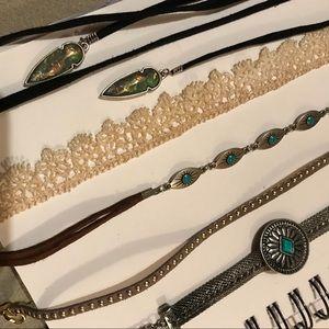 Bundle of Boho Themed Choker Necklaces
